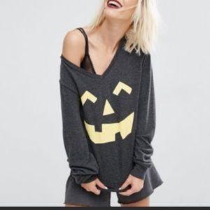 NEW NWT Wildfox Halloween Jack O' Lantern Sweater